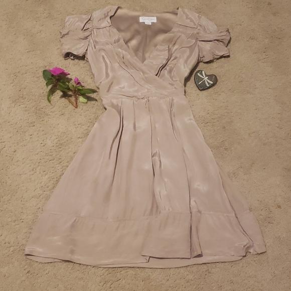 Jessica Simpson Silky Tan Dress Sz 2